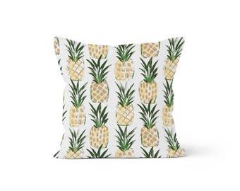Pineapple Pillow Cover - Lumbar 12 14 16 18 20 22 24 26 Euro - Hidden Zipper Closure