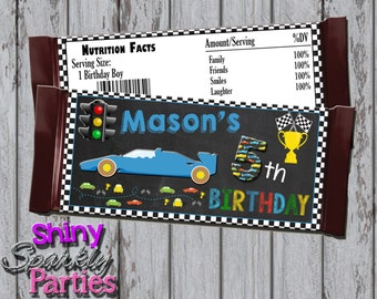 Printable RACE CAR CANDY Bar Wrappers - Racing Candy Bar Wrappers - Race Car Candy Wrappers - Racing Candy Wrappers - Race Car Party