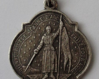 Rare Old Religious Medal St. Joan of Arc