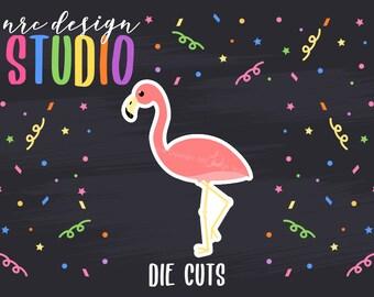 SALE Flamingo Die Cuts Printable, Animal Die Cuts, Flamingo Party Printable, Birthday Printable, Scrapbook Die Cuts