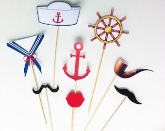 nautical themed photobooth 10 skewers