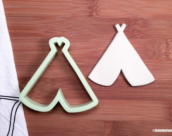 TeePee Cookie Cutter. Bohemian Cookie Cutter. 3D Printed. Cookie Cutter. Custom Cookies. Sugar Cookies. Boho Cookie Cutter.