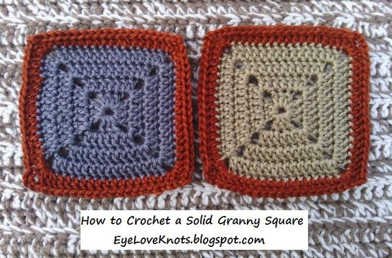 CROCHET PATTERN - How to Crochet a Solid Granny Square - Easy ...