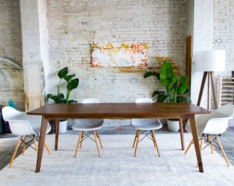 Mid Century Dining Table Modern Dining Table Dining Table
