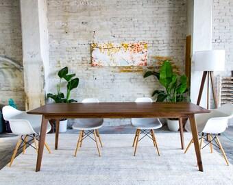 Walnut Dining Table, Modern Dining Table, Midcentury Modern Table, Mid  Century,