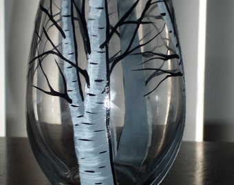 birch tree stemless wine glass (1 available right away)