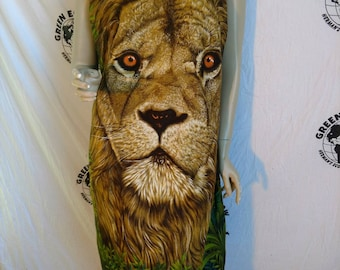 Endangered Species dress by Herman's Eco Med Lion Leopard made in USA