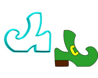 Leprechaun Shoe - Witch Shoe - Elf Shoe Cookie Cutter