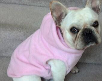 French Bulldog Pastel Pink  Fleece Hoodie