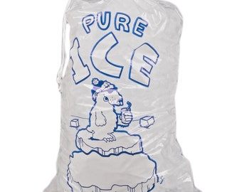 8lb Clear Drawstring Ice Bags