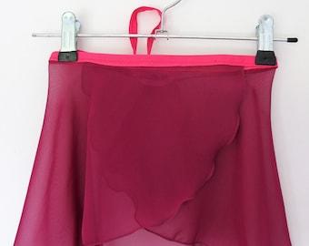 Childs Berry Chiffon ballet wrap skirt