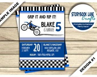 Dirt Bike Birthday Invitation