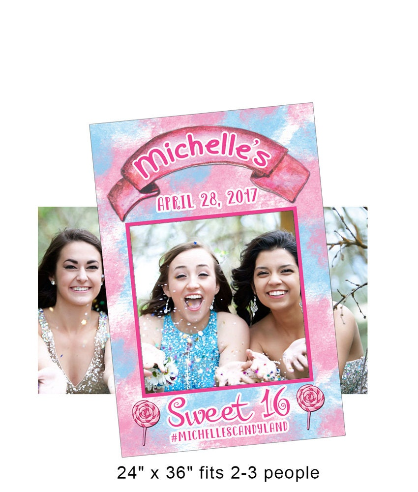 Sweet Sixteen Photo Prop Frame Sweet 16 Party Sweet 16