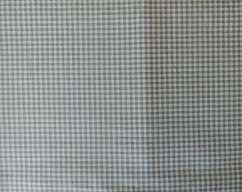 Fabric Patchwork gingham light blue and gray