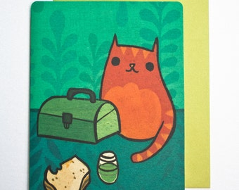 Coworker birthday card - funny office birthday greeting card - cat birthday greeting card