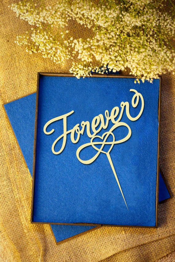 Forever With Infinity Symbol Wedding Cake Topper