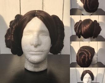 Brown Star Wars Princess Leia Wig with Removable Buns