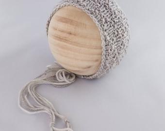 Whistlewood Bonnet, newborn photography prop, knit bonnet prop Newborn Photography Prop, Photo Prop, Knit Bonnet