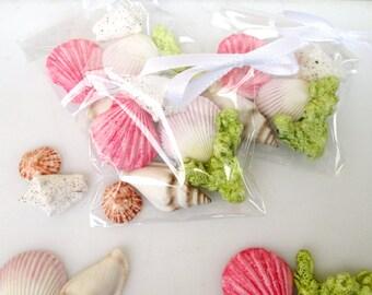 Fondant Seashell Favor - edible seashell favor - seashell favor idea - seashell party favors - seaside wedding favors - seashell favor bags