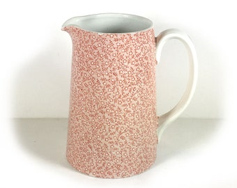 """Vintage 20 oz Pitcher, """"Country Chintz Pink"""" by Royal Crownford"""