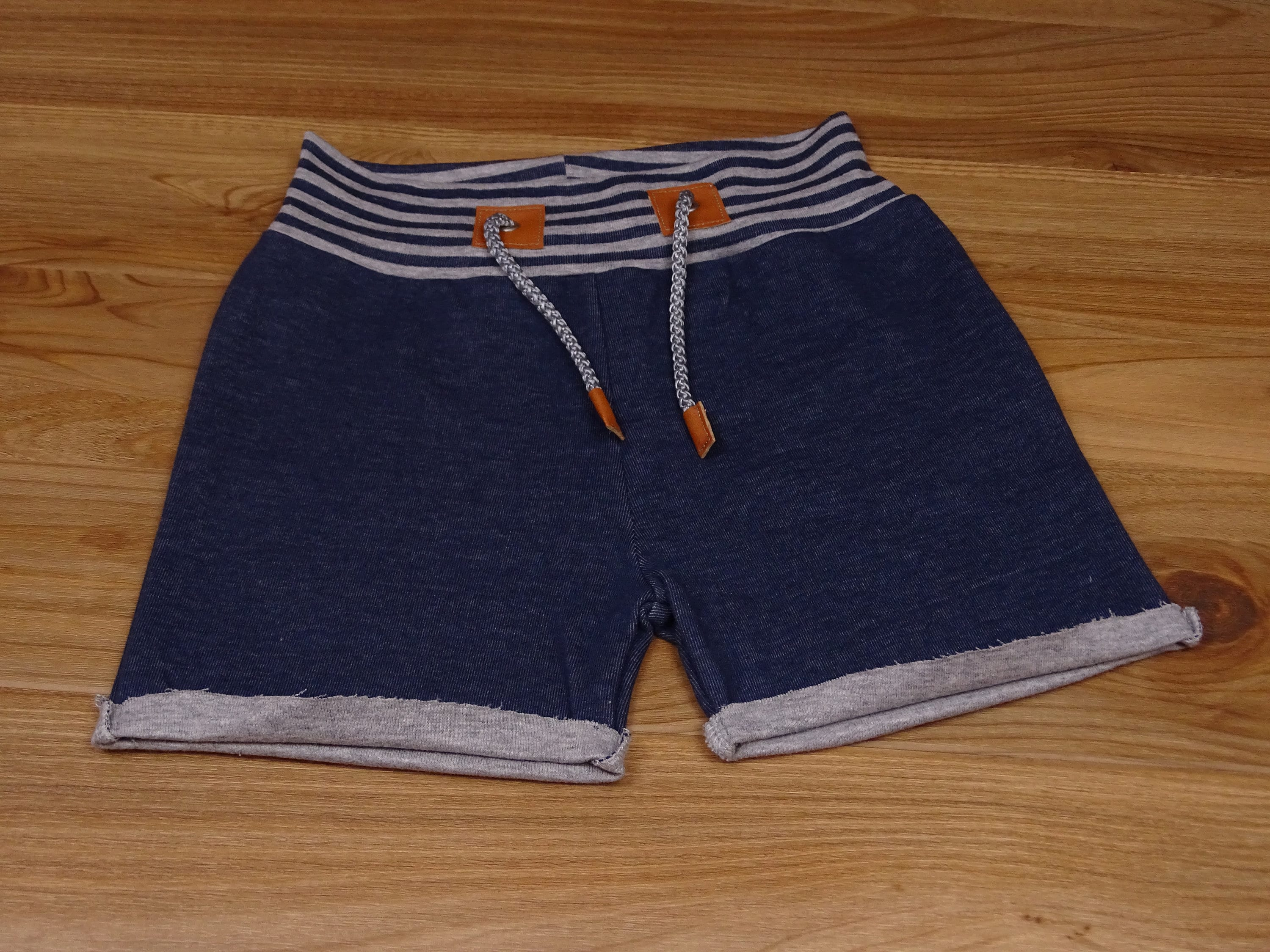 Shorty shorts Trousers Blue grey stripes 128/134