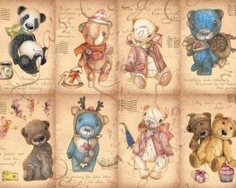Illustrated Postcard Set (Pack of 8)