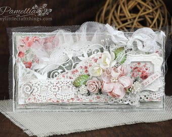 Shabby Chic Vintage Feminine Just Because/For You Floral Greeting Card #JB-005