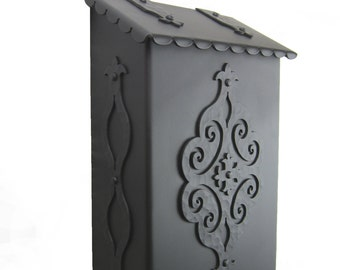 Spanish Revival Wrought Iron Mailbox