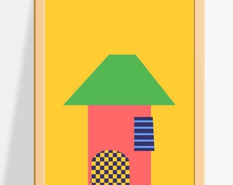 Home/ Printable Nursery wall decor for Kids / building Prints / A fun and colourful Wall Art for Children
