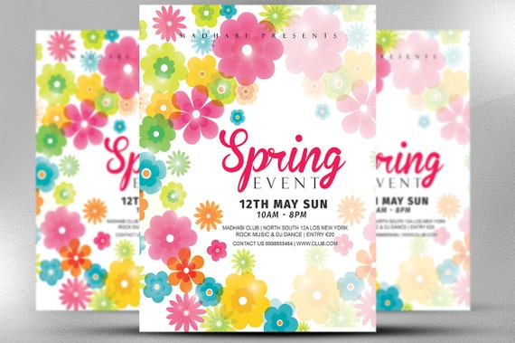 Spring Event Flyer Template Spring Festival Flyer Template