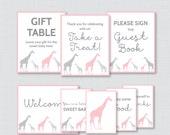 Giraffe Baby Shower Table...