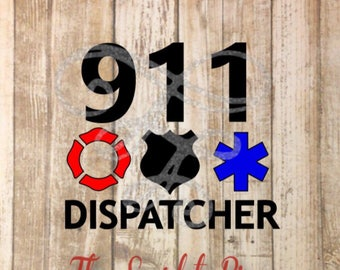 911 Dispatcher svg, dxf, png, eps, pdf, Ambulance, Police, Fire Rescue, Emergency Services