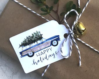 Holiday Tags, Christmas Tags, Holiday Gift Tags, Gift Tags, Watercolor Gift Tags, Jingle Bell Tags, Holly Gift Tags