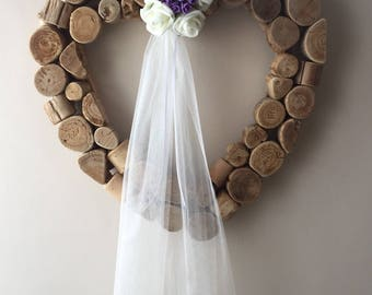 1 x lilac and ivory wedding, pew ends, wedding decorations