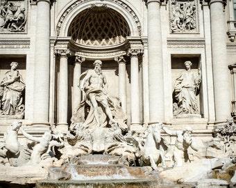 Rome 8 - Trevi Fountain - landscape version - Travel Photography - Wall Décor