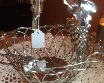 Vintage Godinger Silver Plate Basket, Silver Bread Basket, Wire Bread Basket