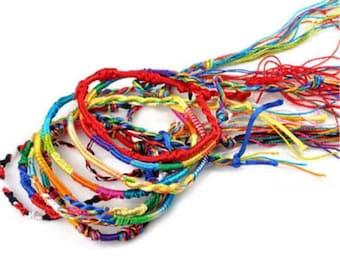 Lucky /Nepalese/Tibetan /Friendship /Handmade/ Etnic /Boho / New hippy style/Twisted/Bracelet/Anklet