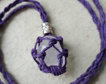 Interchangeable Crystal Holder Hemp Necklace - 2 Sizes! Choose Your Color & Your Crystal!