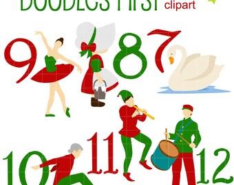 12 days of christmas etsy rh etsy com 12 days of christmas clipart free 12 days of christmas clipart border