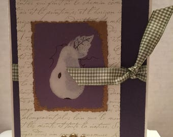 Pear Gold Embossed All Occasion Note Card A30
