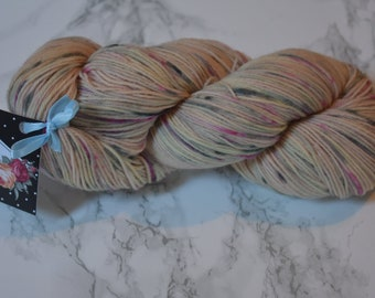 "Skein / ""Monet"" hand dyed wool / Wool and Nylon / sock yarn"
