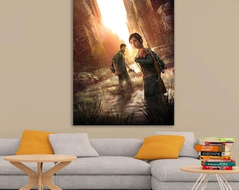The Last of Us Ellie and Joel Art Printed Wall Poster A0, A1, A2, A3, A4 Sizes Matte, Glossy Paper