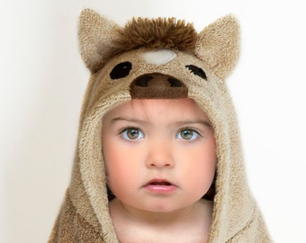 Hooded Towel / Pony / Horse / Hooded Bath Towel / Animal Towel / Personalized / Baby Gift / Baby / Toddler
