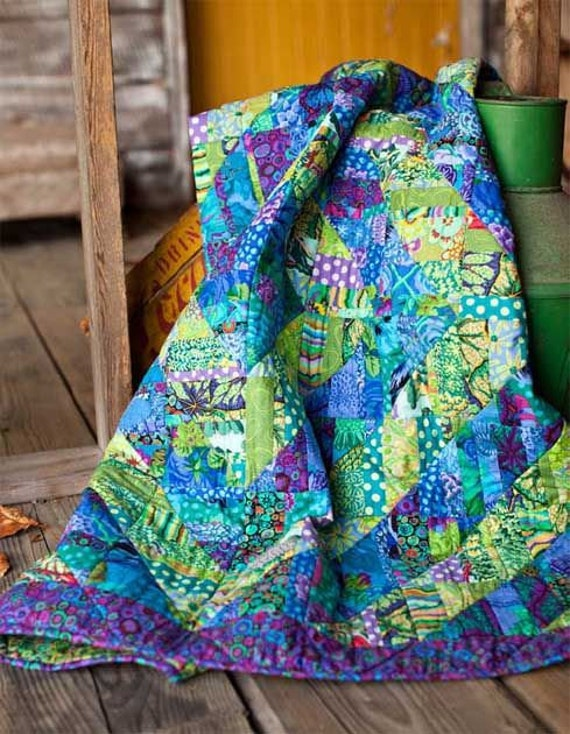 "FRAGMENTED TRIANGLES Quilt Kit  -  47"" x 47""  Kaffe Fassett  and Philip Jacobs fabrics"