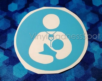 SNS breastfeeding decal(2.75 inches all around)supplemental breastfeeding system decal crunchy mom decal