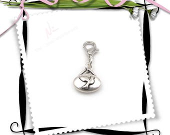 NEW Tiny Double Sided Silver Peace Dove Zipper Pull - Clip-On Charm
