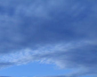 The blue sky is an original photograph