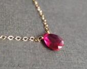 Ruby Necklace - July birt...