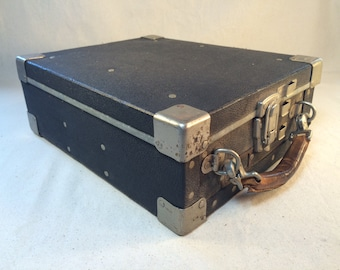 Vintage Pay Phone Coin Box Carrier w/ 6 Coin Boxes