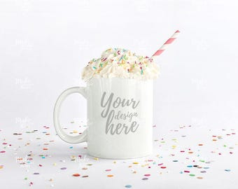 White mug stock photography / Instant download /#6147